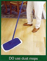 Do use dust mops